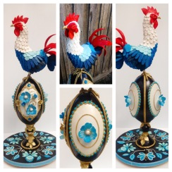 Russian rooster/ faberge egg